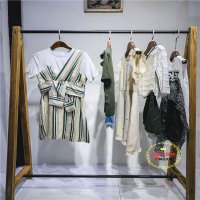 广州歌姿俪尔女装小地素时尚品牌新款夏装一手货源新款组货包