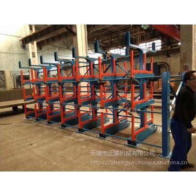 南京不锈钢管材存放方法 伸缩悬臂式货架设计 12米型材货架