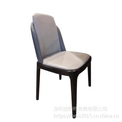 倍斯特现代中式实木餐椅创意中餐湘菜酒店酒楼包房椅