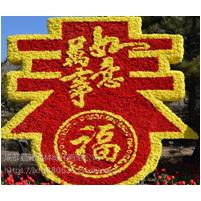 19年猪年元旦春节植物绿雕造型 金猪迎福绿雕造型 成都厂家