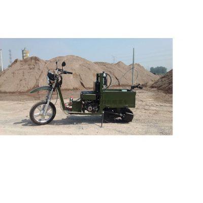 2019年中国农机博览会一亩田农业平台自走式打药机履带摩托车打农药多功能更好用履带摩托车