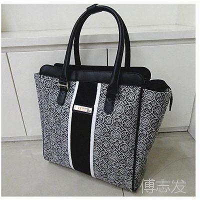 正品特价时尚女包 提花料女士包包 公文包 电脑包 大包