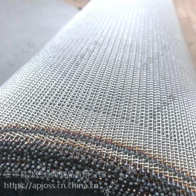 厂家供应pvc发泡网带不锈钢合股输送网发泡炉网带专用复合丝编织网九思网业