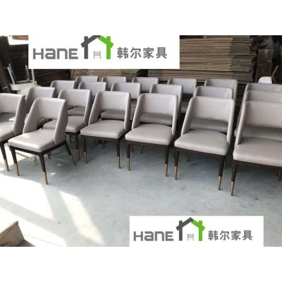 韩尔现代品牌家具 供应上海HL-013港式餐厅桌椅 餐厅实木桌椅定制生产厂家