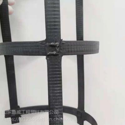 山东鲁威钢塑土工格栅制造商 凸点钢塑土工格栅价格