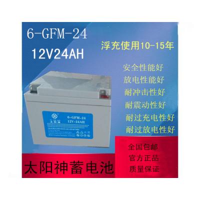 太阳神蓄电池6-GFM-24 12V24AH免维护太阳能光伏发电/UPS电源