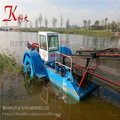 福建收割打捞水葫芦船 割草船清理效果