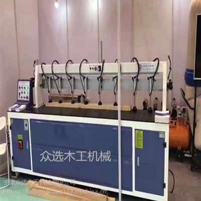 华南众选实木板材拼板机全自动直线铣边机