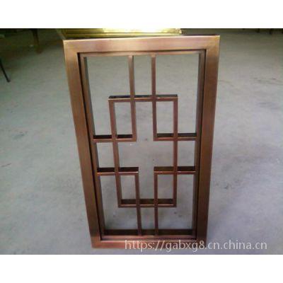 钛金色拉丝不锈钢屏风简易中式隔断客厅折叠铝雕镂空花格厂家批发