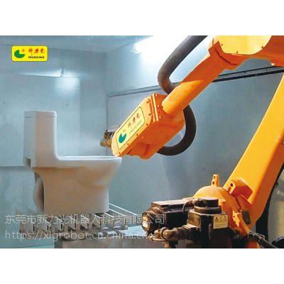 广东新力光喷漆机械手,自动化喷油机械臂,喷漆机器人集成商厂家直销案例