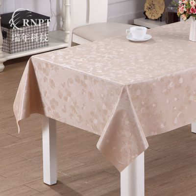 RNPT瑞年厂家 餐厅酒店桌布pvc防水台布珠光桌布长方形茶几布