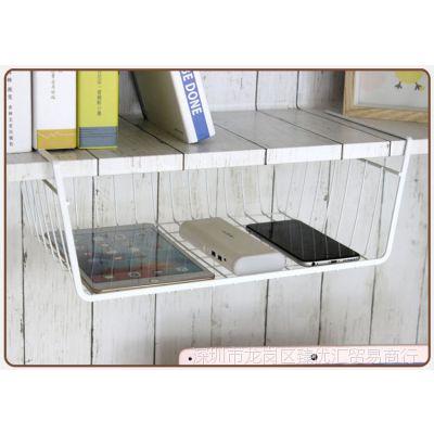 收纳整理置物架衣柜壁内部分隔篮厨房冰箱雪柜隔板下挂篮挂架