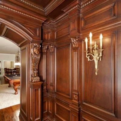长沙原木整屋家具原木大门、原木博古架订制优质产品