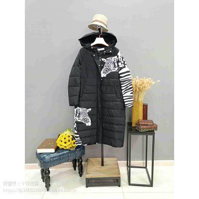 杭州品牌折扣女装钰欣羽绒服当季新款冬装货源厂家直销