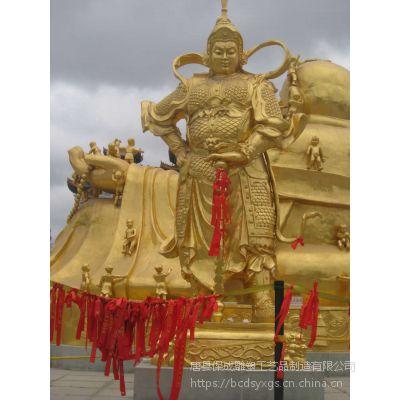 关公佛像伽蓝韦陀菩萨护法摆件守护财神佛道教关羽关二爷铸铜雕塑