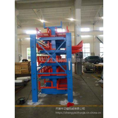 钢材货架 常州伸缩悬臂货架案例 管材存储 节约空间