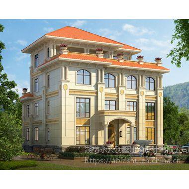 私人定制欧式AT1825沉稳大气四层复式别墅设计施工图纸15.6mX17.1m