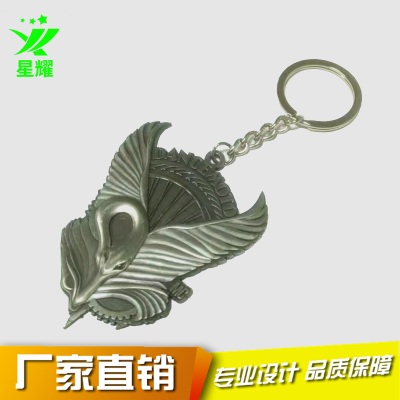 个性浮雕金属钥匙扣 锌合金镀钴镍钥匙挂件 活动留念钥匙扣定制