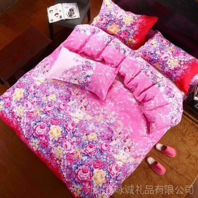 新款家纺芦荟棉四件套单双人床上用品4件套床单被套被罩特价批发