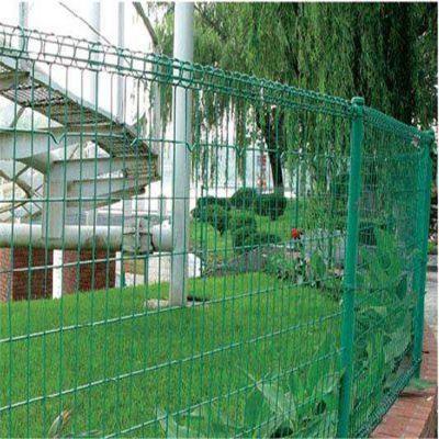 小区阳台铁丝护栏网 双圈护栏网定做 围墙铁丝网