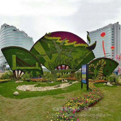 五色草植物造型 立体雕塑植物 音乐系列钢琴造型