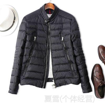 18冬季新品 高端品质!温暖有型 男士修身立领保暖羽绒服夹克外套