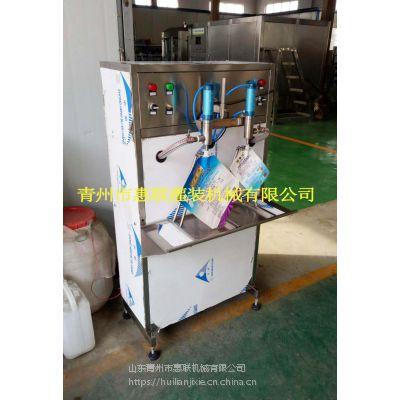 洗衣液灌装机 自立袋装洗衣液灌装设备 半自动定量灌装机 活塞式灌装设备