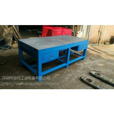 非标定制20mm厚钢板钳工教学桌 配台虎钳钳工实训桌常用尺寸介绍