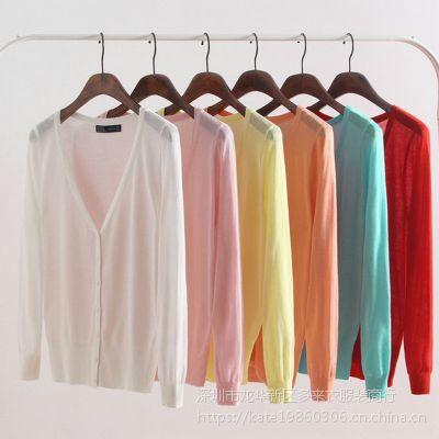 外贸新品女装长袖毛衣 库存地摊热卖韩版OL通勤针织开衫 女式针织衫尾货