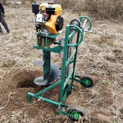 佳鑫东北硬土冻土打坑机 手提式轻便地钻机 沙层钻眼打洞机持久耐用