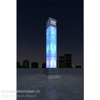 贵州夜景景观灯丶什邡大型灯柱定做丶四川学校方形LED景观灯