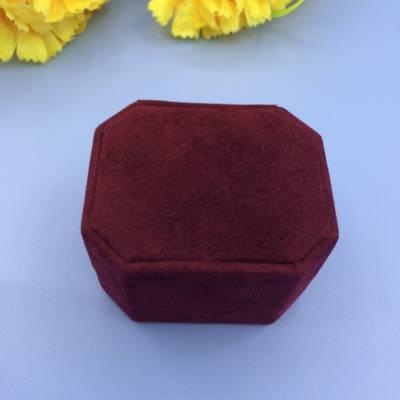 专业定制八角首饰礼盒 高档礼品包装盒 批发八角绒布戒指盒