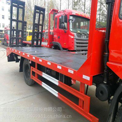 适合130挖机平板车-大运170马力130钩机拖车