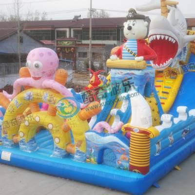 巨鲨来袭蹦蹦床气模拱门淘气堡厂家