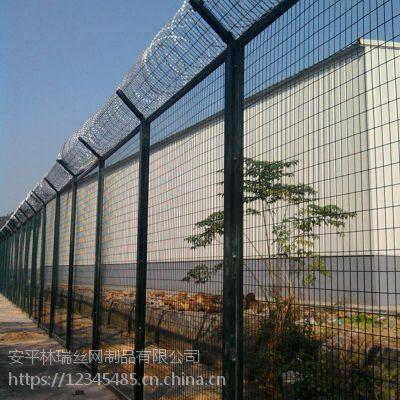 护栏网厂家 监狱护栏网 刀片刺绳护栏网 框架护栏网 可定制