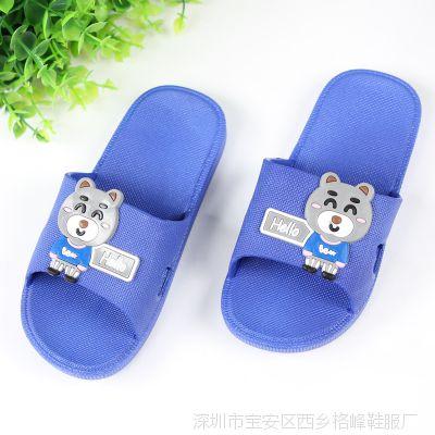 2018年夏季新款儿童凉拖鞋批发 平底防滑拖 小孩塑料拖鞋批发