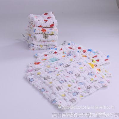厂家直销 婴幼儿A类小毛巾 六层医用纱布泡泡巾口水巾 幼儿园批发
