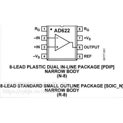 AD622ARZ【ADI专营】放大器 低成本仪表放大器