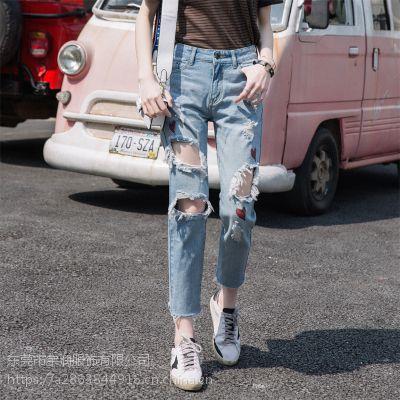 5元牛仔裤批发杂款韩版时尚休闲裤九分裤高腰牛仔裤清货1-10元服装
