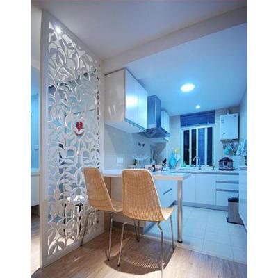 汕头雕刻加工定制家居板开放式厨房大厅隔断镂空板雕刻板