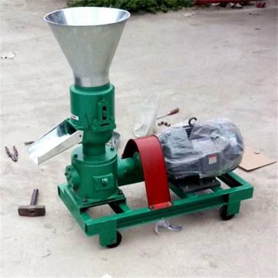 红薯秧粉碎造粒机 离合器饲料颗粒机 电机直连颗粒机