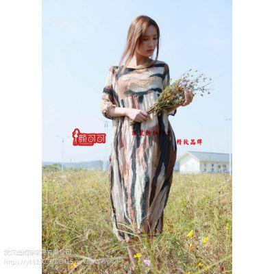广州棉麻品牌女装木子衣芭走份批发/欧美风时尚女装