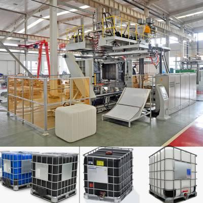 1000升方桶中空吹塑机 通佳吨桶专用生产设备价格