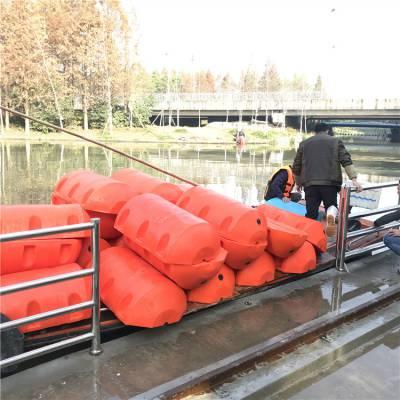 引流式水电站拦污漂浮筒 贵阳水电站拦污塑料浮筒批发