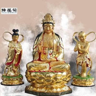 海上圣观音像和善财童子佛像、龙女神像的简介慈念众生,速成菩提
