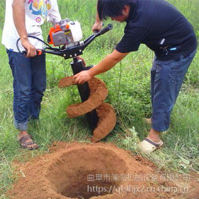 7.5马力双人手提挖坑机植树挖穴种苗机 手提式刨坑机
