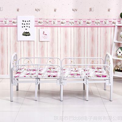 折叠儿童床带护栏男孩女孩幼儿园床1.5米小孩单人床小铁床公主床