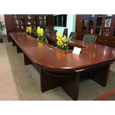 大型实木会议桌长桌简约现代长条桌椅组合办公桌会客洽谈桌大班台