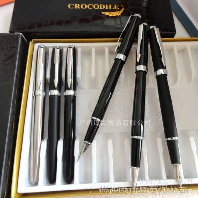 原装正品鳄鱼268R-3宝珠笔全钢银夹签字笔鳄鱼笔金属笔 商务礼品