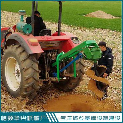 拖拉机带植树挖坑机 河南树坑机厂家